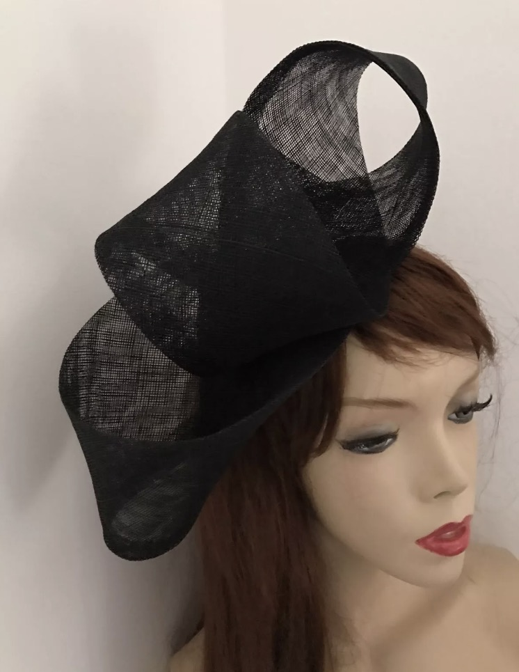 Black Big Loop Fascinator Hat - www.twistfashion.co.uk f063ae27bb6