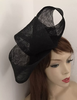 Black Big Loop Fascinator Hat