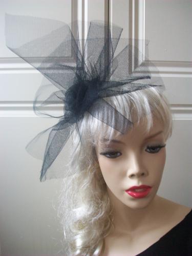 Black Tulle Fascinator Hat - www.twistfashion.co.uk 721c854fc59
