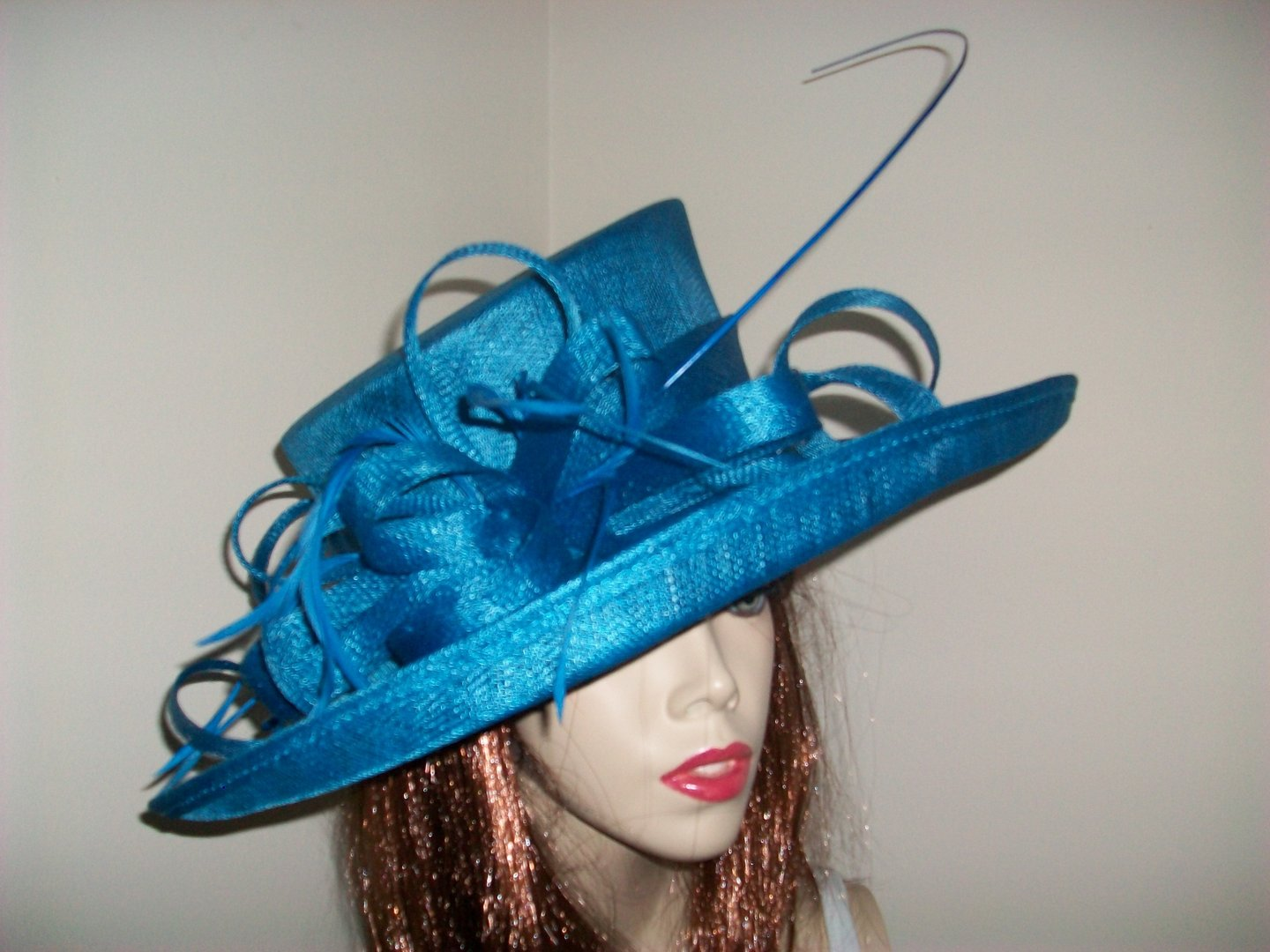 Teal Wedding Hat - www.twistfashion.co.uk e7d8ad6207a