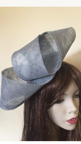 Silver Twist Fashion Loop Fascinator