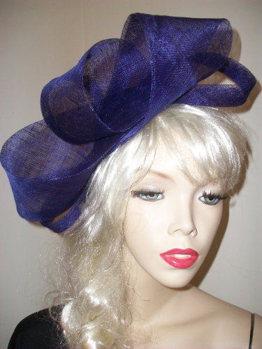 Purple Big Loop Fascinator Hat