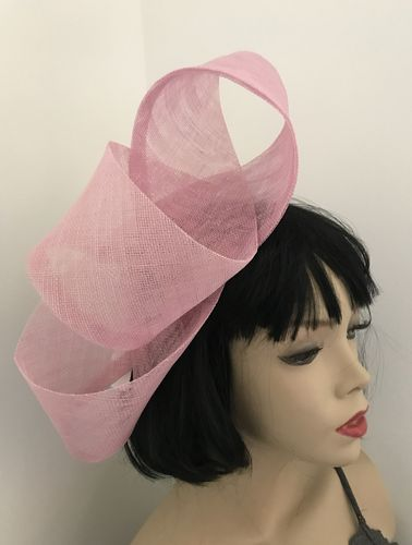 Pastel Pink Twist Fascinator hat