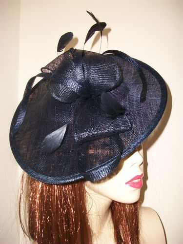 Navy Blue Saucer Hat