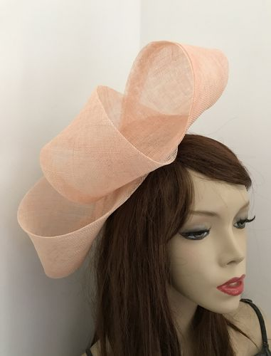 Peach Nude Big Loop Fascinator Hat