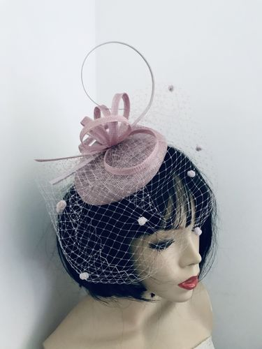 Lilac Pillbox Fascinator hat