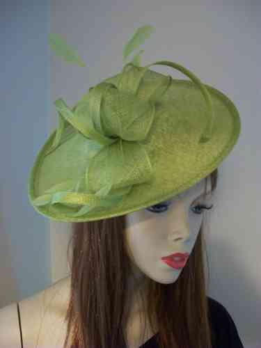 Lime Green Saucer Hat