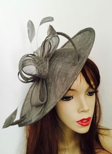 Pewter Grey Wedding Hat