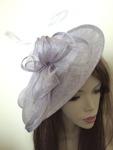Light Grey Lilac Saucer Hat