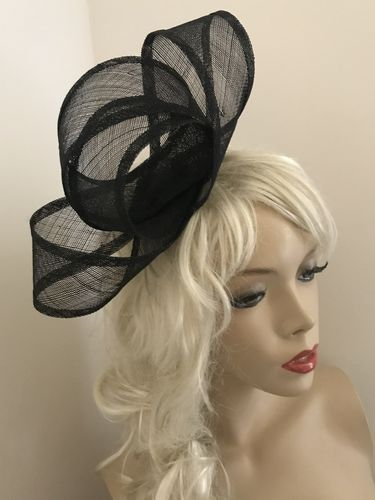 Black Small Loop Fascinator
