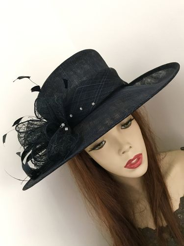 Dark Navy Blue Wedding Hat