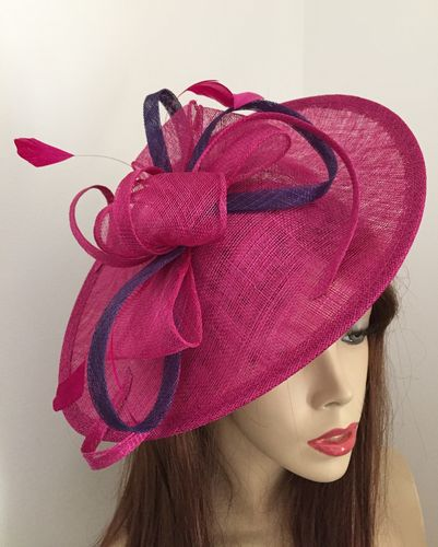 Fuchsia and Purple Saucer Hat