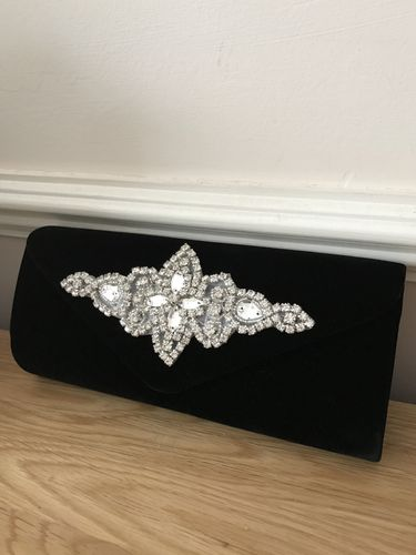 Black Velvet clutch Bag