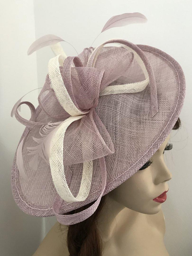 Lilac Ivory Saucer Hatinator - www.twistfashion.co.uk 986656afd6d