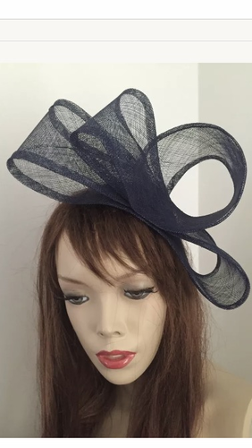 Navy Twist Fashion Fascinator