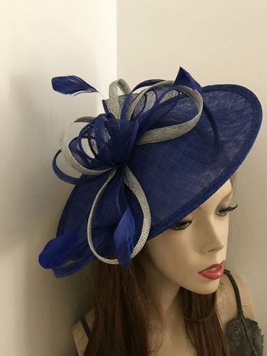 Cobalt Blue Silver Fascinator