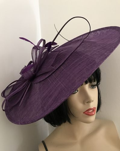 Purple Big Saucer Hat