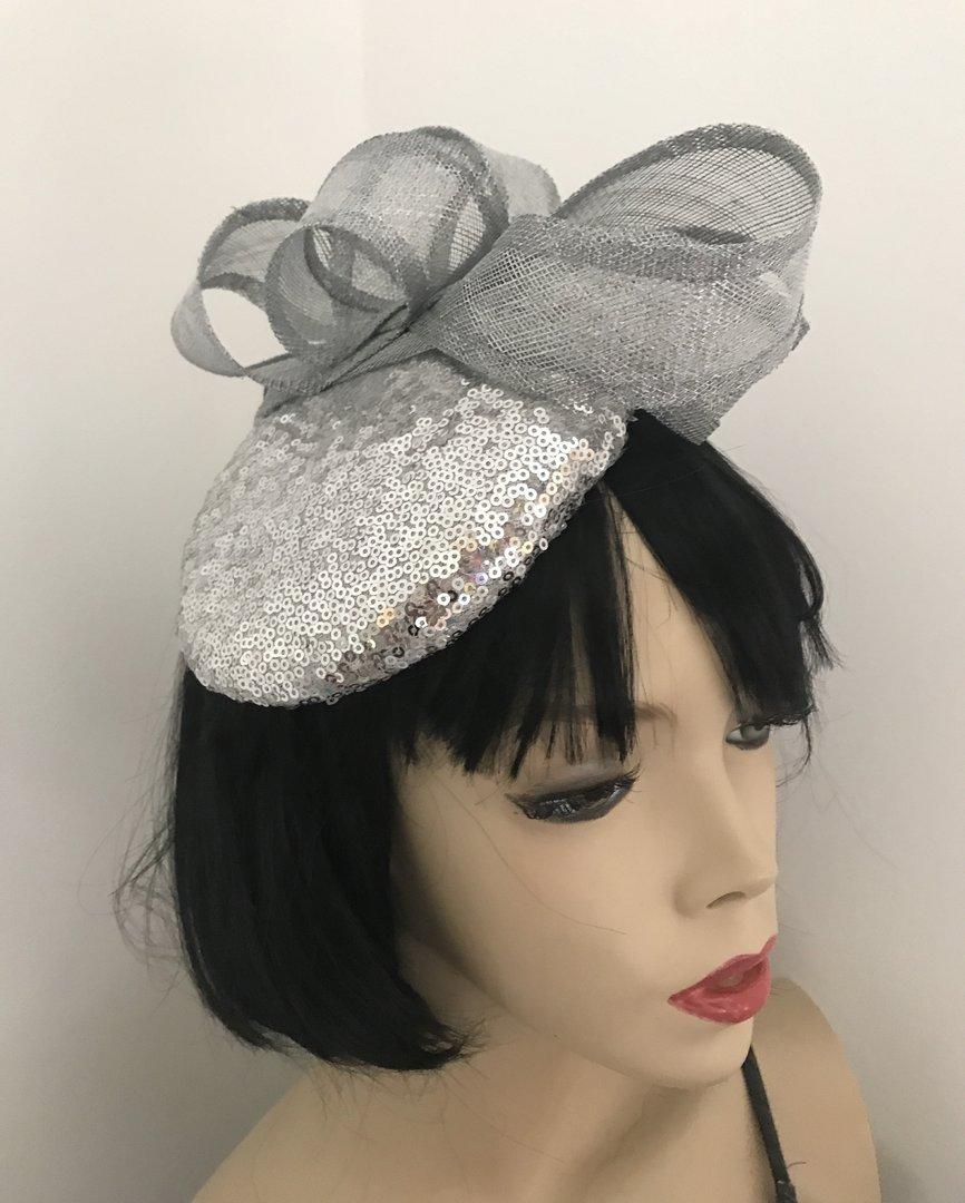 Silver Sequin Pillbox Hat · Silver Sequin Pillbox Hat ... f5bd5e26cf1
