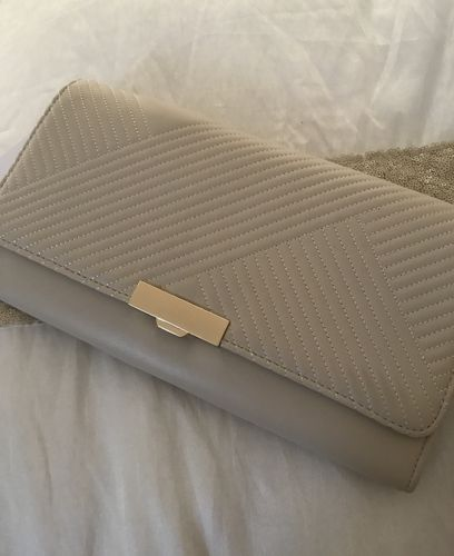 Cream/beige clutch Bag