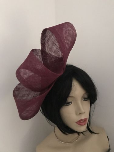 Burgundy/Plum Loop Fascinator Hat