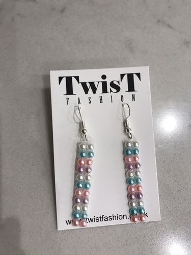 Pearl beaded drop Earrings