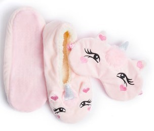 Pink Unicorn Slippers 5-6