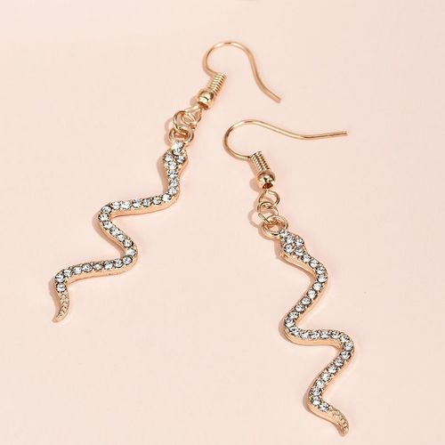 Snake Gold Diamante Earrings