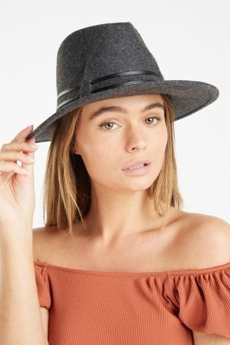 Charcoal Grey Fedora Hat